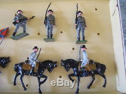 Johillco England Toy Soldiers 11 pc Box Set 225 Civil War Confederate Army