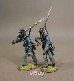 John Jenkins American CIVIL War 54mass-06 Union 54th Mass Colored Regt Advancing