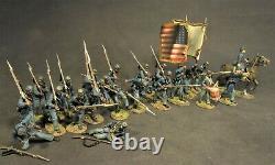 John Jenkins American CIVIL War 54mass-09 Union 54th Mass Colored National Flag