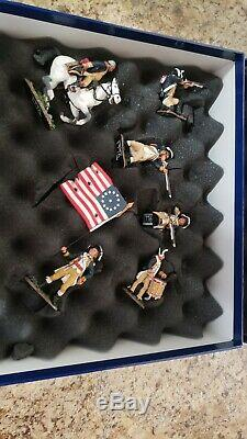 KING AND COUNTRY Revolution War Civil War TOY SOLDIERS Set With Case RARE
