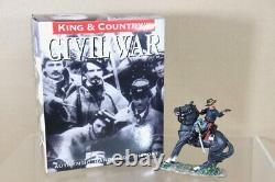 KING & COUNTRY CW061 AMERICAN CIVIL WAR MOUNTED OFFICER FIRING PISTOL nu
