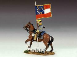 King And Country Cw042 Cw42 Mounted Flag Bearer American CIVIL War 130 Scale
