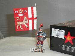 King And Country Pnm021 English CIVIL War Kings Lifeguard Flagbearer Toy Soldier