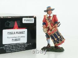 King And Country Pnm022 British Parliamentary Drummer English CIVIL War Figure