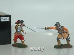 King And Country Pnm065 English CIVIL War Cavalier Duelling Toy Soldier Set