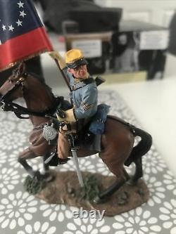 King & Country American Civil War Rebel Cavalry Flag Bearer Cw42 Retired Now