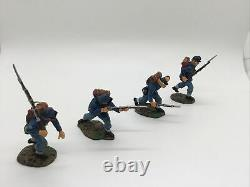 King & Country American Civil War Union Infantry Assaulting Charging Lot x 4