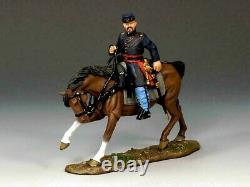 King & Country CIVIL War Cw038- Union Mounted Officer Retired Nib
