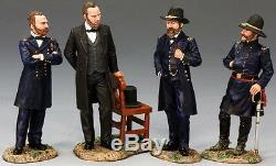 King & Country CIVIL War Cw052sl Union Lincoln & His Generals Mib