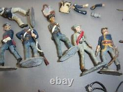Lead toy soldiers Confederate civil war hand painted lot