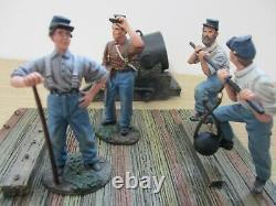 Limited Edition Boxed Britains 31134 Mortar & 4 Men American Civil War (f3)
