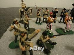 Lot 18 Lemans CIVIL War Miniature Soldiers Blue/gray + 4 (lee & Grant) 1995-98