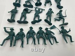 Lot Of 17 Vintage Louis Marx civil war toy soldier north union blue figures