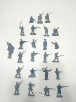 Lot Of 24 Handmade By Pope Civil War Army Men 54mm Figurines New