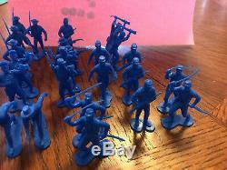 Lot Of 31 Vintage 1960s Louis Marx & Co. Civil War Union Army Soldiers! Blue