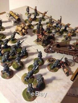 Lot Of Lead Figures 22MM Civil War North South Armies Vintage lead Figures 1980s