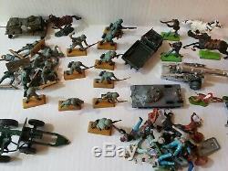 Lot of Vintage Britain's Ltd Deetail WWII Toy Soldiers German, British, civil war