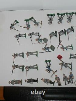 Marx Miniature Play Set Figures Lot X50 Confederate Soldiers CIVIL War Set