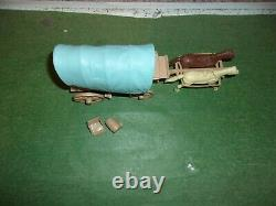 Marx custers last stand playset Wagon Beige Tan With Blue Top