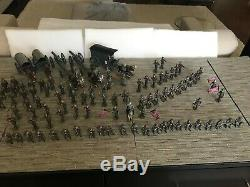 Mignot french toy soldiers CIVIL WAR The Confederate Soldiers & Wagons 103 pcs