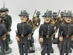 Mixed Lot 25 CAST Toy Soldiers Civil War VIRGINIA MILITIA INFANTRY RIFLEMEN