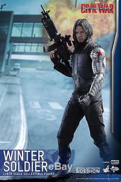 NIB Hot Toys Marvel Captain America Civil War Winter Soldier Movie Masterpiece