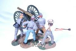 NO RESERVE Civil War Confederate Artillery Gun & Crew #1 ACW57119 6pc (NIB)
