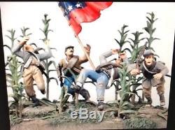 Old Northwest ACW-02 Civil War Grim Harvest Confederates Charging A Corn Field