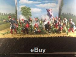 RARE! THECornfield Diorama 12x12 Union Civil War Zouaves Painted Figure 1/32-54mm