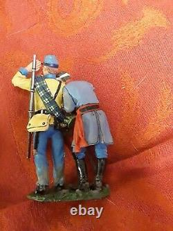 Rare 2 bloody wounded CONFEDERATE soldier figure KING COUNTRY CIVIL WAR CW012