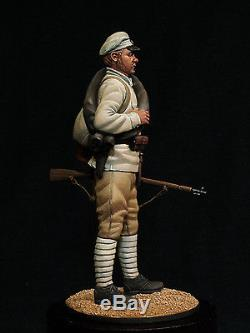 Red army. The civil war in Russia. Painted figure. 54mm collection miniature
