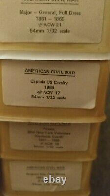 Reeves International Unpainted 54mm American Civil War Lot 32 Minature Soldiers