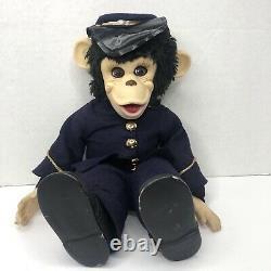 Rushton Zippy Monkey Plush Doll Union Soldier Civil War Zip Chimp Vintage RARE