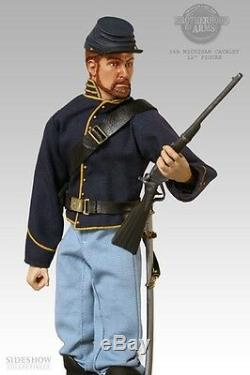 Sideshow 12 Inch CIVIL War Union Army 6th Michigan Cavalry Trooper Mint In Box
