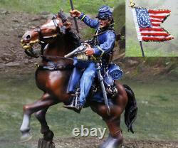 The Collectors Showcase CIVIL War Union Cs01064 Union Cavalry Flag Bearer