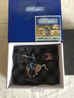 The Collectors Showcase Civil War Soldier CS00250 Union Cav. Flagbearer On Horse
