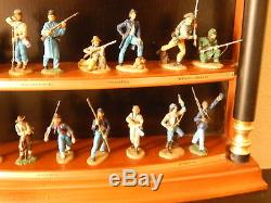 The Great Battles of the Civil War 28 Painted Figures display case 54 mm Pewter