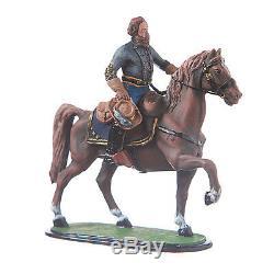 Tin Toy Soldier Civil war Confederate J. E. B. Jeb Stuart mounted 54mm #5.56
