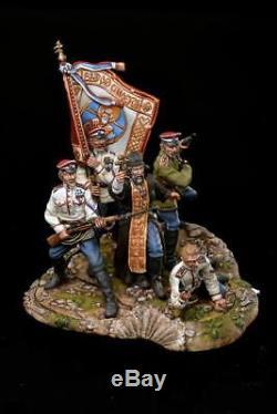 Tin soldiers, 54mm, Civil war in Russia 1918-1920, Drozdovsky regiment