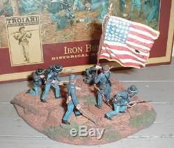 Troiani American Civil War Iron Brigade Infantry Set MIB 2004 54mm Ptd Metal ACW