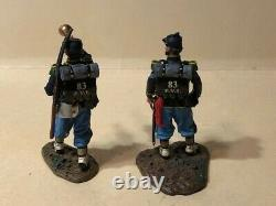 Two King and Country Civil War Infantry men, One with Pistol, other with Bugle