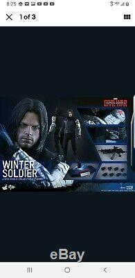 (US) Hot Toys MMS351 Captain America Civil War Winter Soldier sealed brown box