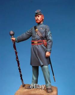 Union Drum Major at American Civil War 54mm Tin Painted Toy Soldier Art
