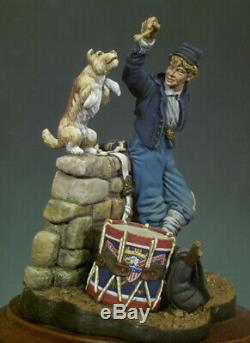 Union Drummer American Civil War 54mm 1/32 Tin Painted Toy Soldier Art