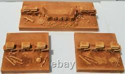 Unpainted Civil War Redoubt Defensive Position Gabion Bunker 3 Piece Set