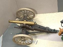 VINTAGE BRITAINS TOY SOLDIERS AMERICAN CIVIL WAR GUN TEAM SET CANNON 12in BOX