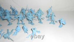 Vintage 1960s Marx Blue & Gray Civil War Playset Union Soldiers 30 Piece Set