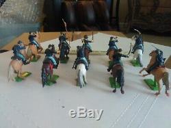 Vintage 1971 Britains Deetail Union Civil War Cavalrymen lot of 10