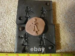 Vintage 30mm tin, lead, plastic toy American Civil War soldiers, mold lot