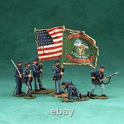 Vintage Art of War Fight'n Irish Set 6 Pc Set Britains #17426 American Civil War